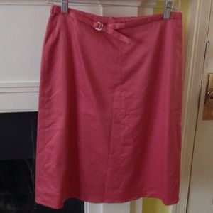 Banana Republic Stretch Belted Salmon Skirt Sz 4